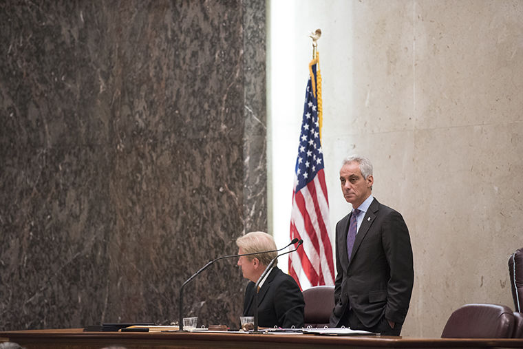 Mayor Rahm Emanuel and most city aldermen left City Hall Nov. 1, before citizens were able to voice their concerns over the city's 2017 budget during the scheduled public hearing.