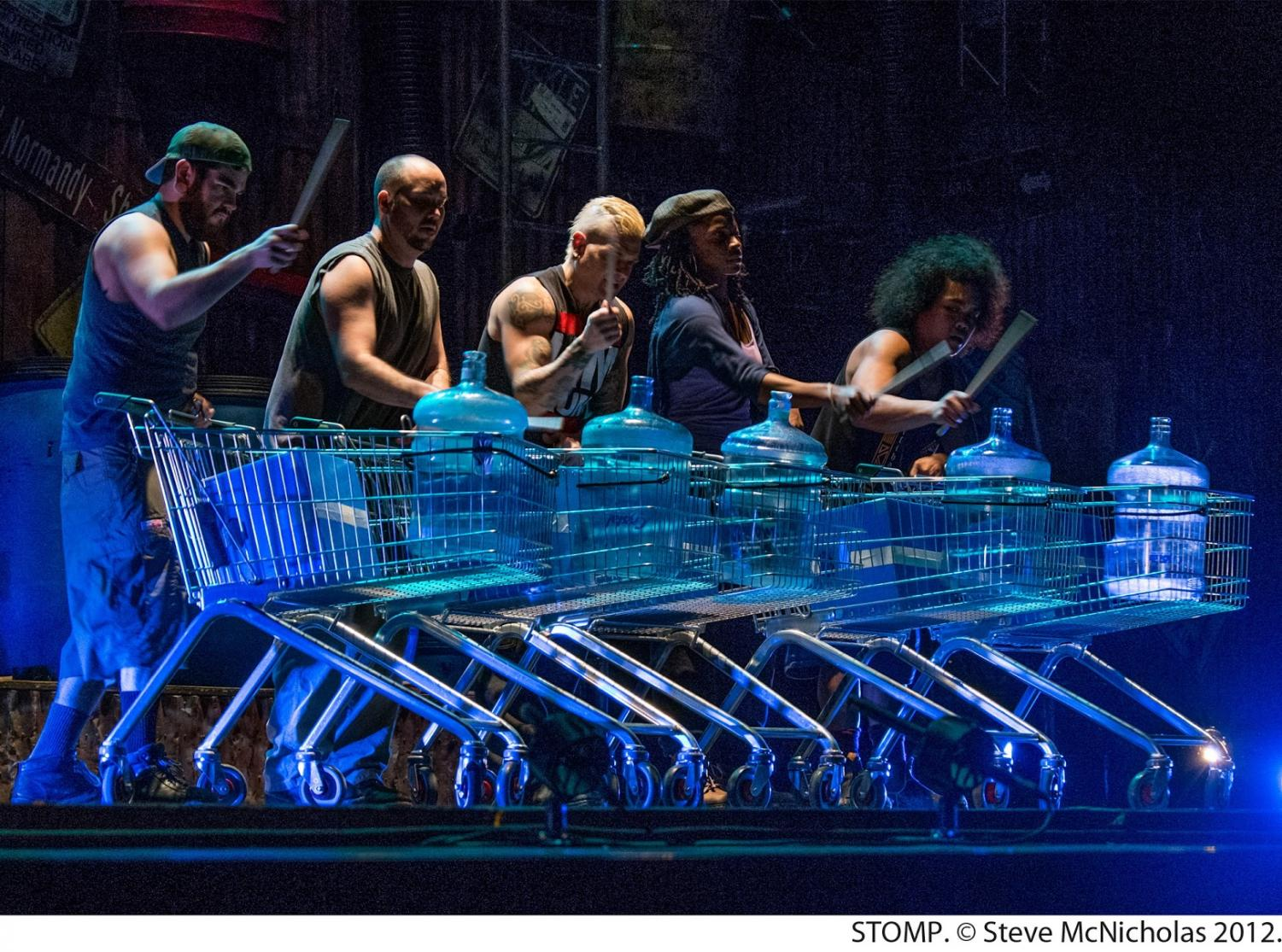 """The high energy percussion show """"STOMP"""" is back in Chicago and will run at the Broadway Playhouse, 175 E. Chestnut St., until Jan. 1, 2017."""