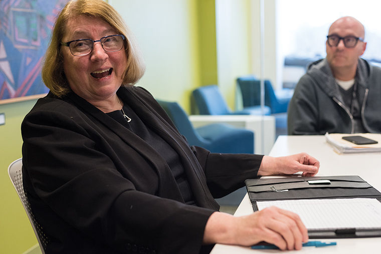 Library Dean Jan Chindlund received the 2017 Excellence in Academic Libraries Award Jan. 17, for the staff's commitment to community engagement on campus.