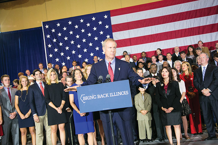 Gov. Bruce Rauner asks the general assembly to not give up on creating a bipartisan and balanced budget at State of the State address Jan. 25.