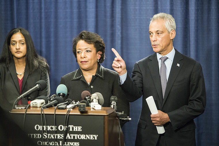 The Department of Justice released a statement at a press conference at the Everett McKinley Dirksen Courthouse, 219 S. Dearborn St., on Jan. 13. The DOJ found the Chicago Police Department at fault for systematically violating the civil rights of Chicago citizens.
