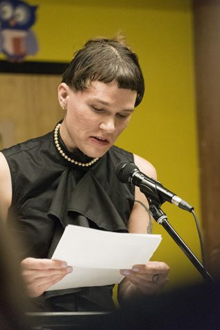 Poet T Clutch Fleischmann shares a piece they wrote post about gender identity and striving for commonality among differences at Open Books in the West Loop Jan. 15.