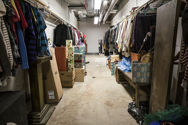 The old shooting range at the former police station, 100 S. Racine Ave., has now been transformed into a costume room for the Chicago Children's Theatre.
