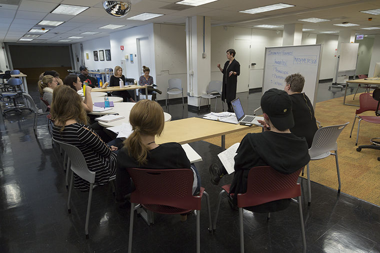 """Faculty members René King and Joan Giroux created the course """"InArch: Civic Engagement Studio,"""" in which students will help create an after-school center."""