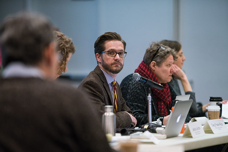 During the Feb. 10 Faculty Senate meeting, Greg Foster-Rice, associate professor in the Photography Department and Faculty Senate president, introduced a new curriculum approval process designed for efficiency and transparency.