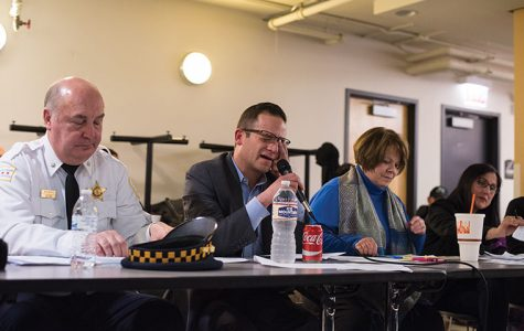 District 12 Cmdr. Ed Kulbida addressed recent shootings, one of which occurred the afternoon of Feb. 3 on Chicago Avenue, at a Feb. 6 community meeting.