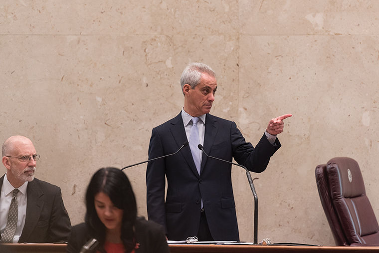 Mayor Rahm Emanuel, pictured here at a City Council meeting Feb. 22, has yet to introduce a plan to implement the recent Department of Justice recommendations