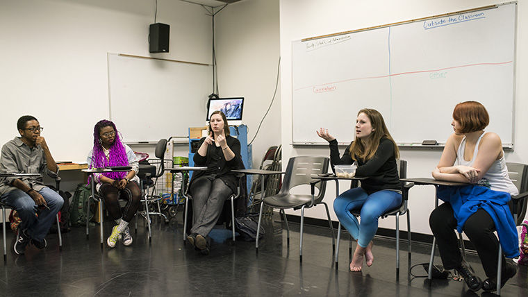 Students voiced personal experiences they have had with different college programs to the Diversity, Equity & Inclusion Student Advisory Board during a Feb. 8 town hall meeting.