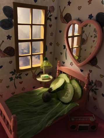 Artist Aleia Murawski said she has been working with miniatures her whole life.  She uses these tiny rooms to create spaces for the snails.