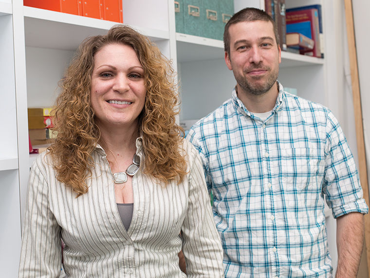 Tanya Harasm and Clint Vaupel, staff members represented by the United Staff of Columbia College support, fellow staffers' rights to teach classes.