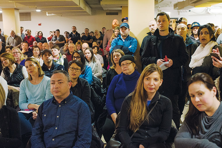 West Town residents gathered at 1613 W. Chicago Ave. Feb. 6 to discuss the recent increase in crime rate in neighborhoods such as Wicker Park, Ukrainian Village and Logan Square.