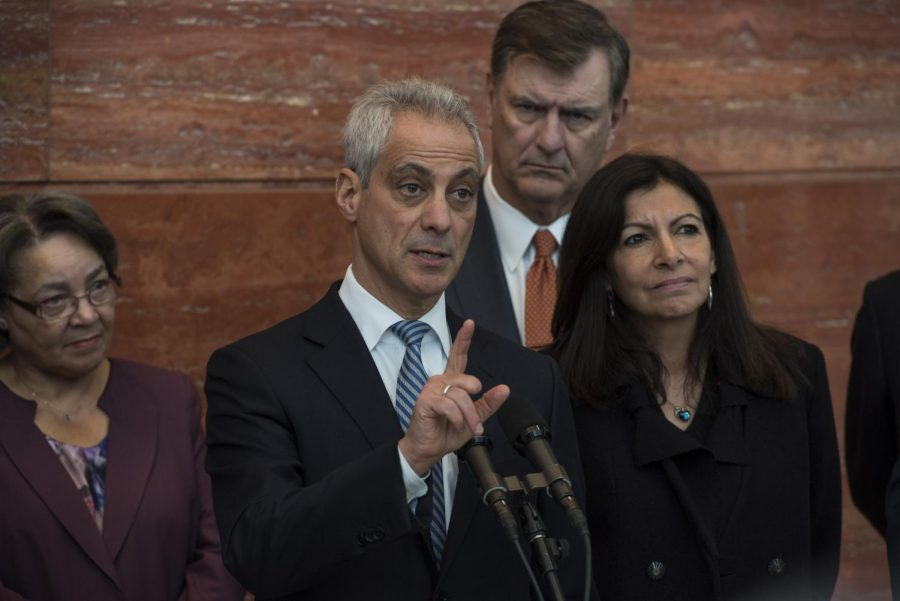 Mayor Rahm Emanuel and 19 mayors from five different continentsexchange ideas for waterway development projectsMar. 13.