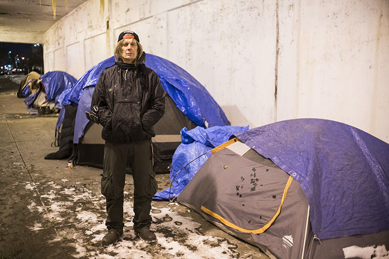 Mark Saulys, a resident of Tent City and organizer at One Northside, will benefit from the city's housing pilot program and move into a home soon, he said.