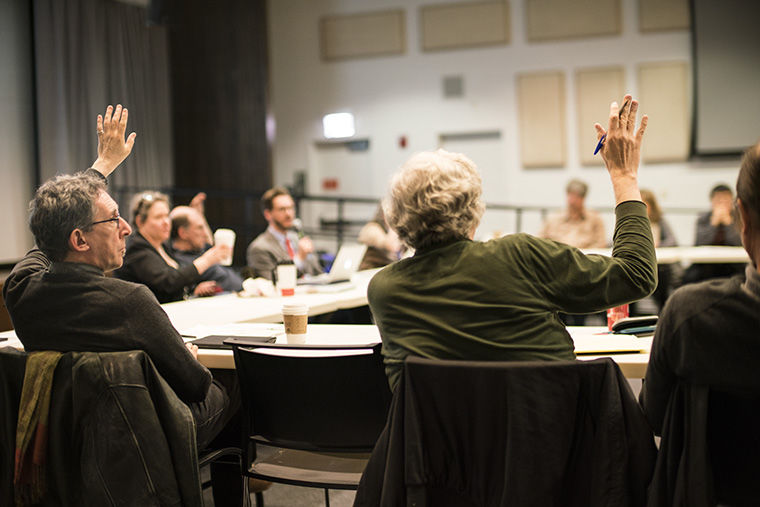 During a Faculty Senate session April 14, members discussed updates to the college's workload policy and approved a motion calling for additional transparency and communication in the statement review process.