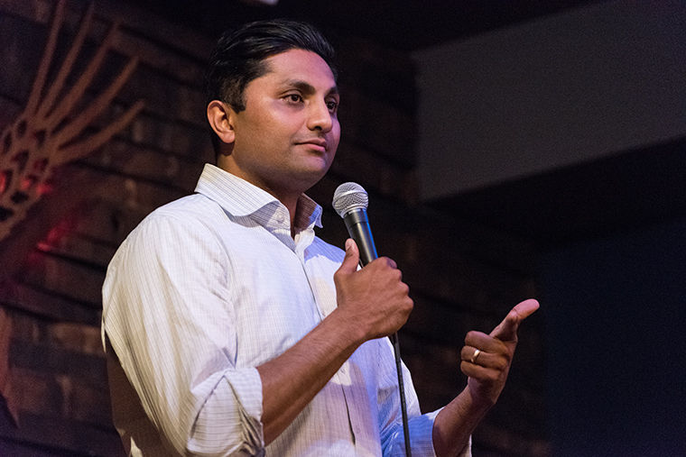 Ald.+Ameya+Pawar+%2847th+Ward%29+spoke+to+voters+in+Logan+Square%2C+April+26+and+presented+his+progressive+strategy+to+unify+red+and+blue+counties.