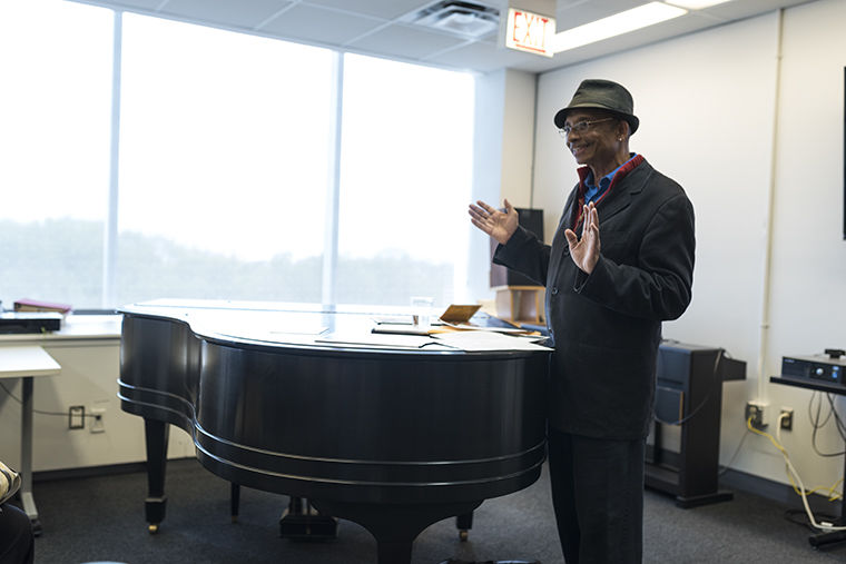 Stan West, journalist and adjunct faculty in the English department, spoke about the similarities of blues musicians from Chicago and Cuba during his May 1 presentation at the Center for Black Music Research, 618 S. Michigan Ave.