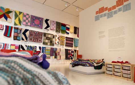Welcome Blanket reimagines Trump's border wall with yarn