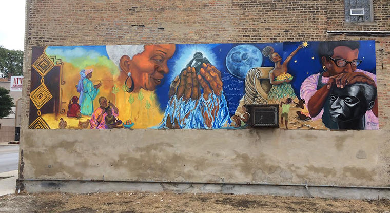 West+Englewood+captures+women+of+history+including+Englewood+resident+Gwen+Johnson+%28pictured+below%29+in+new+mural+inspired+by+the+women%E2%80%99s+marches.%C2%A0