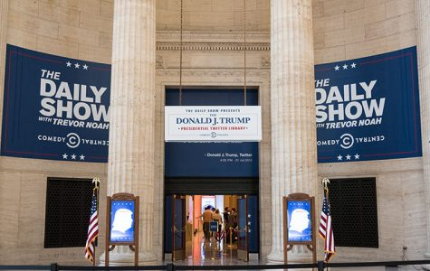 The Donald J. Trump Presidential Twitter Library, traveled to Chicago for the weekend. Photo taken on Oct. 19.