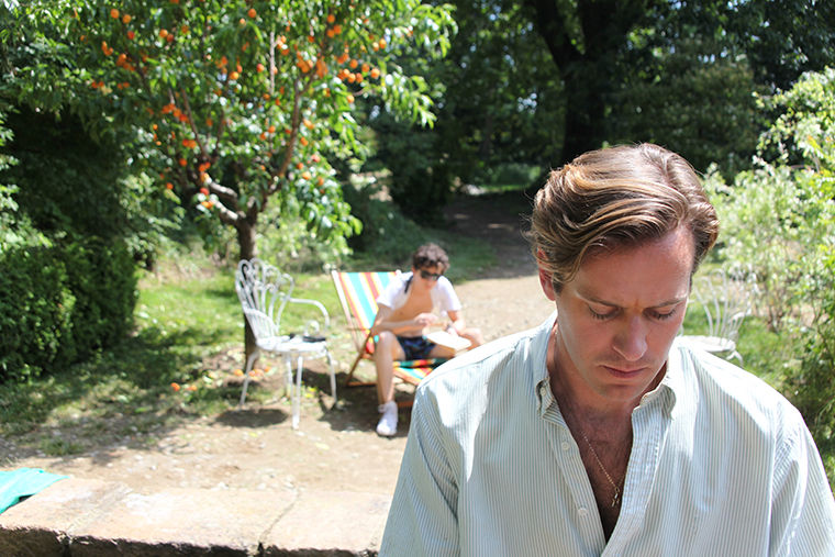 "Timothée Chalamet (back) and Armie Hammer star as Elio and Oliver in ""Call Me by Your Name."""