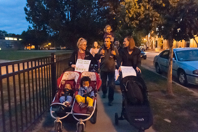 Families gathered in Welles Park Oct. 5 for the Walk Strong march to bring awareness to recent sexual assault reports in the neighborhood.
