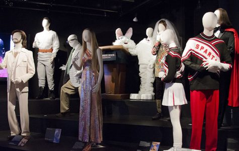 A variety of costumes used throughout the genrations of Saturday Night Live sketches are part of the exhibit at the Museum of Broadcast Communications, 360 N. State St., entitled