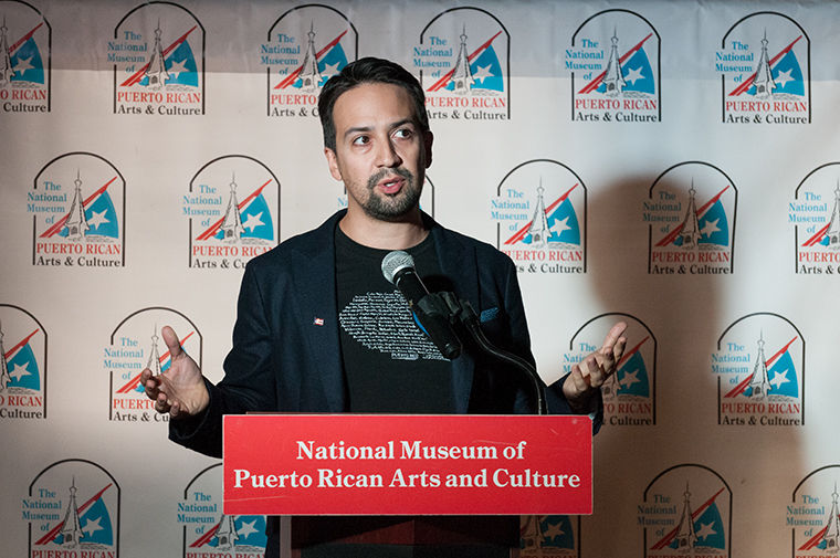 Lin-Manuel+Miranda%2C+creator+and+former+star+of+%22Hamilton%22%2C+spoke+about+the+ongoing+humanitarian+crisis+in+Puerto+Rico+in+a+press+conference+at+the+National+Museum+of+Puerto+Rican+Arts+%26amp%3B+Culture%2C+3015+W+Division+St.%2C+on+Nov.+1.