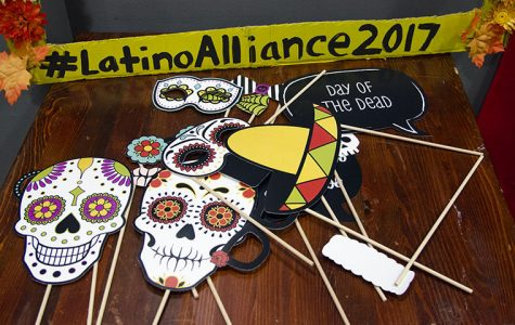 A DIY photobooth was one of the many elements of Latino Alliance's Día de los Muertos celebration at Stage Two, 618 S. Michigan Ave., Oct. 27.