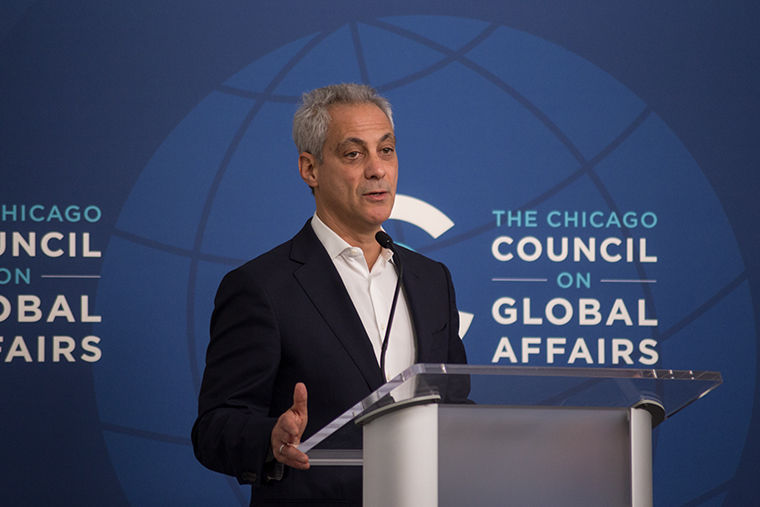 Mayor Rahm Emanuel introduced a mayoral panel on climate change Dec. 4. at the Chicago Council on Global Affairs, 130 E. Randolph St.