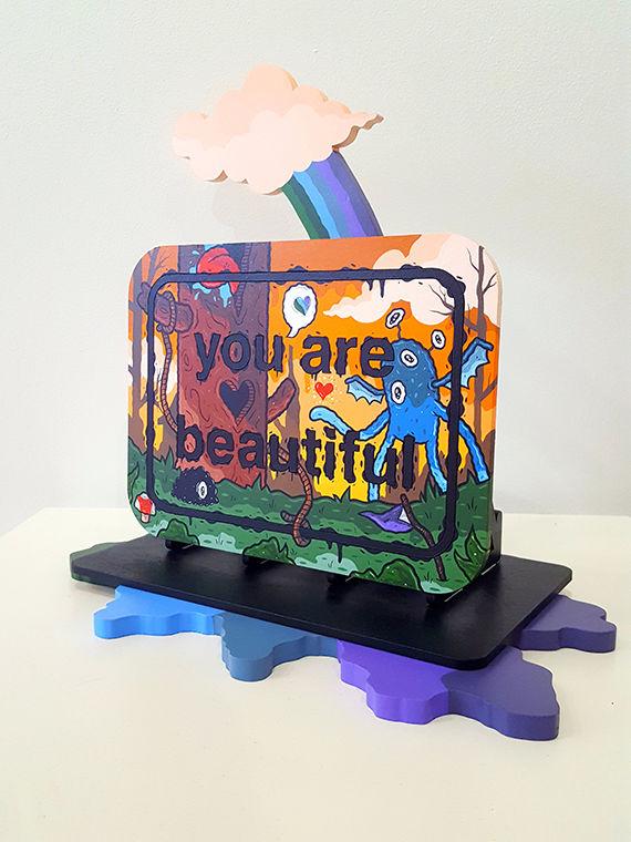 Art exhibit promotes better self-image