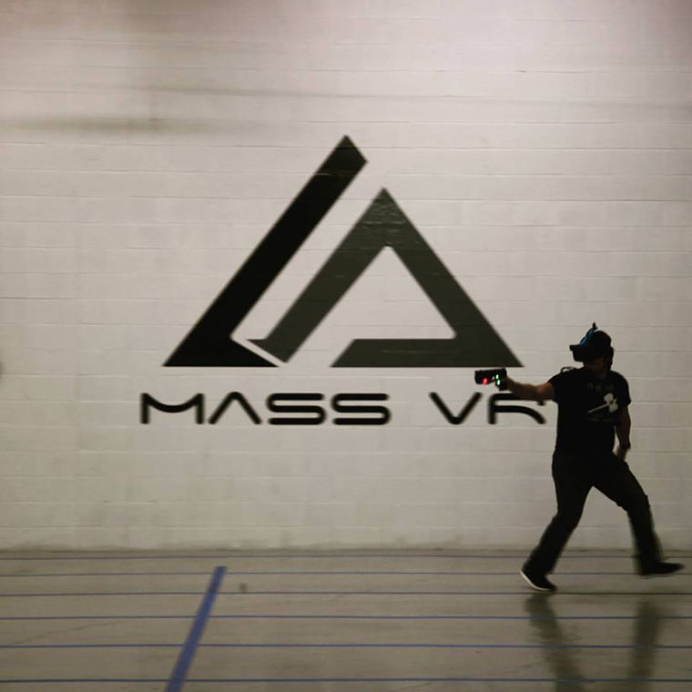 "MassVR's proprietary technology will allow players to move untethered in the virtual battlegrounds of ""VR Champions,"" a competitive first-person shooter."