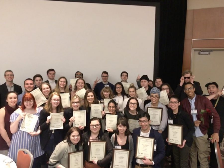 The Chronicle took home 20 awards including best non-daily in the state at the 2017 Illinois College Press Association awards.