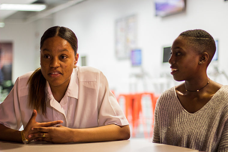 Alumnae Alivia Blade (left) and Bri Heath created Columbia's first Black Arts Festival wto provide a space and build community for black students and alumni.