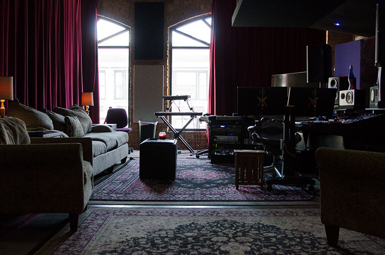 Inside one of two recording studios at Glass Tree Creative, located at 2248 S. Michigan Ave., Jan. 25.