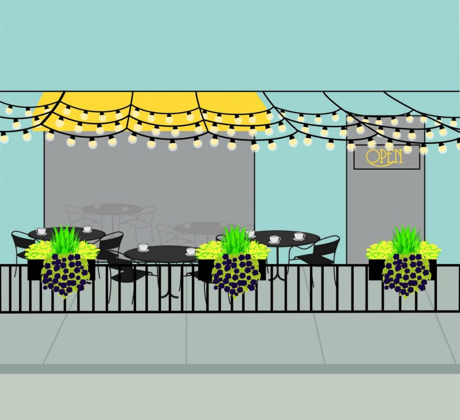 Outdoor cafés on Wabash spice up neighborhood