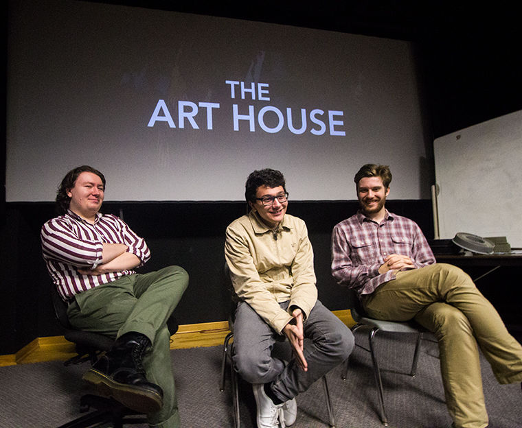 Members from Art House expiremental film club talk about their organization on Feb 23 at 1104 S. Wabash Ave.