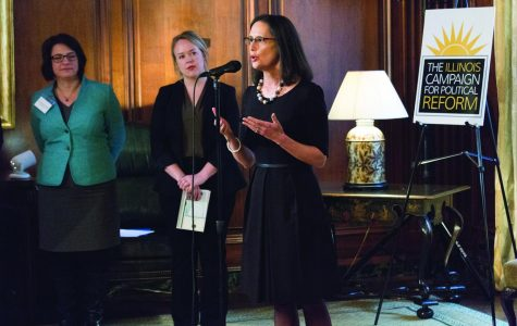 Illinois Attorney General Lisa Madigan gave opening remarks at the Illinois Campaign for Political Reform panel, calling sexual harassment a