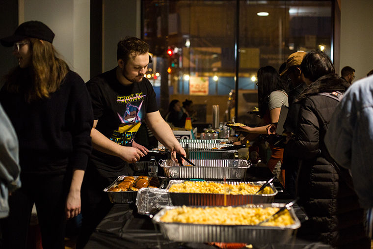 Students enjoy food at the Blood Ball on March 9. at 1104 S. Wabash Ave.