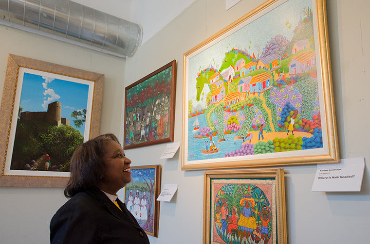 Elsie Hernandez, president of the Haitian American Museum of Chicago, stands for a portrait in the museum's space at 4654 N. Racine Ave.