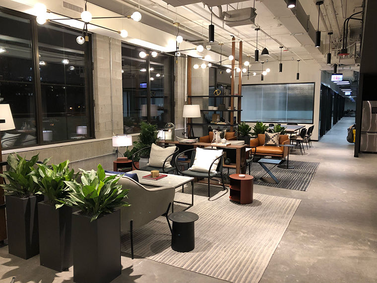 ServiceNow is currently working out of a temporary workspace in the Fulton Market, before moving to a permanent location.