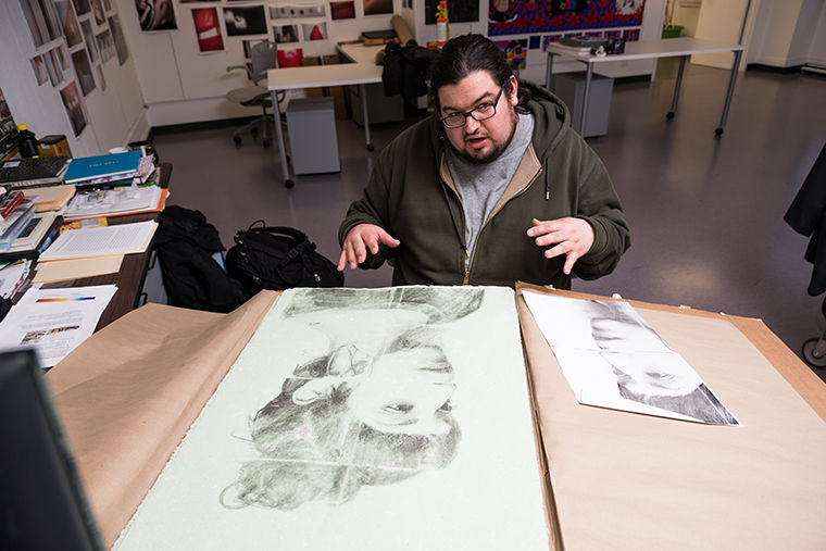 Jonathan Castillo, first year photography graduate student, said he is looking forward to integrating his photography and paper making skills. He credits many fellowships in helping him complete his multiple photography projects from around the world.