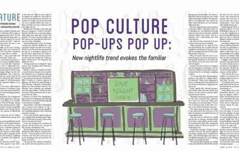 Pop culture pop-ups pop up: New nightlife trend evokes the familiar