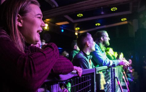 Audience members watch as bands perform on the Biggest Mouth 2018 stage at Metro, 3730 N. Clark St., on April 19.