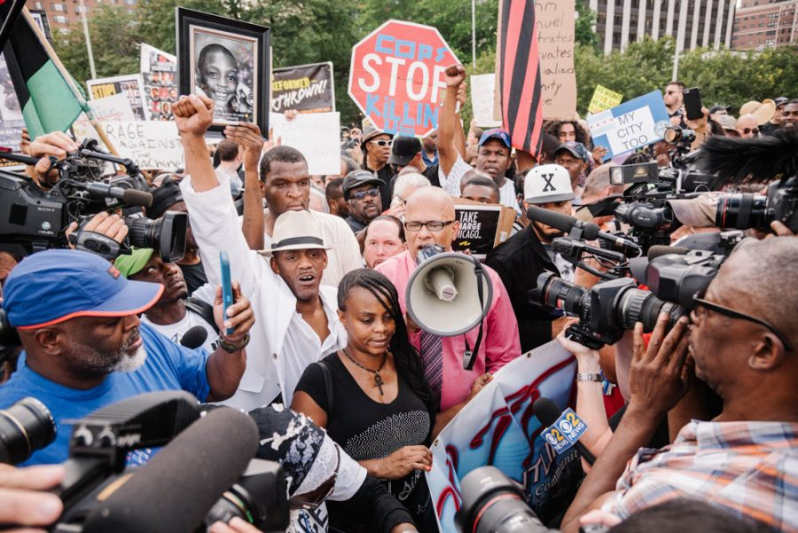 Protestors shut down Lake Shore Drive Aug. 2 before marching toward Wrigley Field to bring attention to police violence and economic disparity between the North and South sides of Chicago.