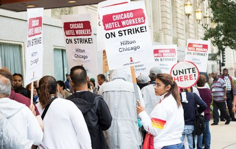Hospitality union workers strike for new contract