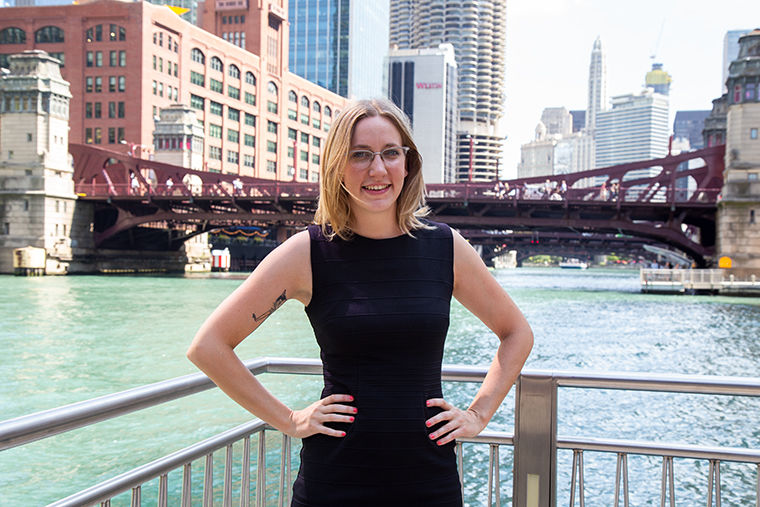 Columbia alumni, Maggie O'Keefe announced her candidacy for alderman of the 40th ward.