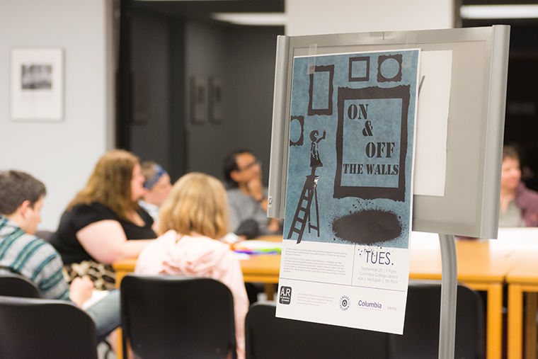On & Off the Walls featured panelists discussing tips on how to build a community of artists Sept. 25.