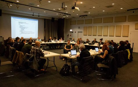 A meeting of the Faculty Senate held at Stage Two, 618 Michigan Ave., Oct. 12 centered around faculty dissatisfaction with compensation and finances at the college.
