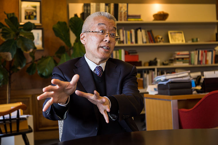 President and CEO Kwang-Wu Kim's contract has been extended through the 2023-2024 school year, more than a year earlier than expected.