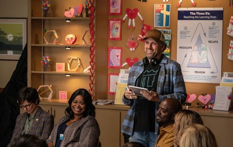 Director Sean Anders, Tig Notaro and Octavia Spencer on the set of Instant Family from Paramount Pictures.